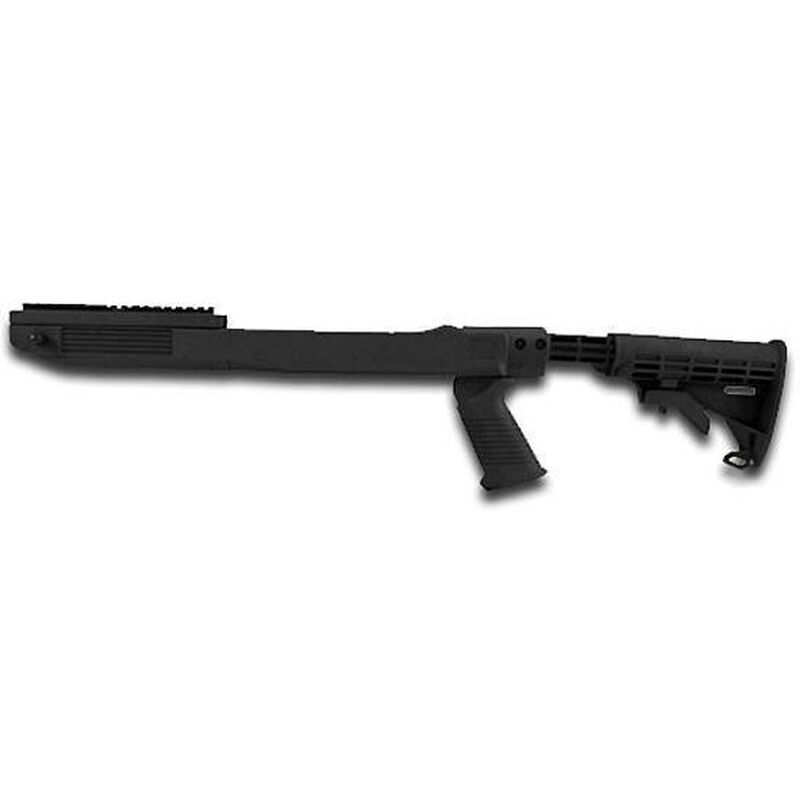 TAPCO 10/22 T6 Collapsible Stock Set Black Includes Forearm Top Cover with Picatinny Rail 16751