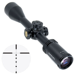 "Riton RT-S Mod 3 Gen 2 6-24x50 Riflescope Non-Illuminated BDC Reticle 1"" Tube .25 Inch Per Click 6061-T6 Aluminum Second Focal Plane Adjustable Parallax Matte Black"