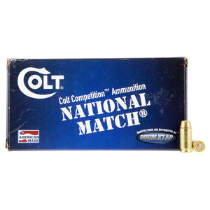 Colt Defense .40 S&W Ammunition 50 Rounds Match FMJ 180 Grains