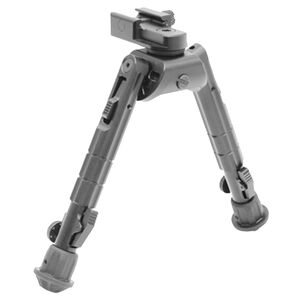 """Leapers UTG Heavy Duty Recon 360 Bipod 6.69"""" to 9.12"""" Height Aluminum Rubber Feet Black TL-BP01"""