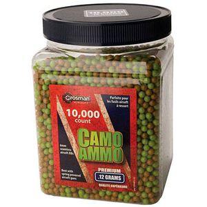 Crosman Camo Ammo Airsoft BBs Plastic .12 Gram Camo 10000 Count ASP10K12