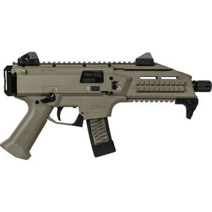 "CZ Scorpion EVO 3 S1 9mm Luger Semi Auto Pistol 7.72"" Barrel 10 Rounds Low Profile Fully Adjustable Aperture/Post Fiber-Reinforced Polymer Frame Flat Dark Earth"