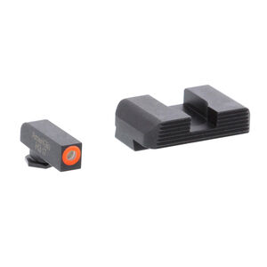 Ameriglo Sight Set for GLOCK Green Tritium Front Dot with Orange Outline and Black Serrated Rear