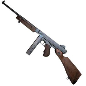 "Auto-Ordnance Thompson M1 Lightweight Semi Auto Carbine .45 ACP 16.5"" Smooth Barrel 30 Round Stick Magazine Blade Front Sight Fixed Battle Rear Walnut Stock/Forend Blued Finish TM1C"