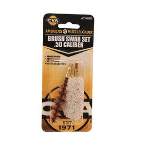 CVA Black Powder .50 Calliber Brass Brush/Swab Set 274974