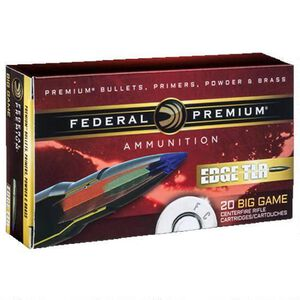 Federal Edge TLR .300 Winchester Magnum Ammunition 20 Rounds 200 Grain Edge TLR Bonded Projectile 2810fps