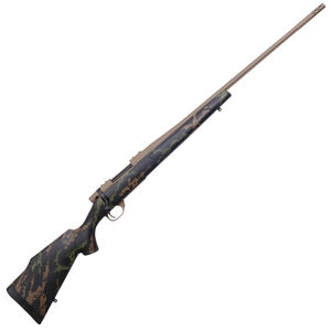 """Weatherby Vanguard High Country 6.5 PRC Bolt Action Rifle 24"""" Barrel 3 Rounds Polymer Stock Black/Green/Tan Cerakote FDE Finish"""