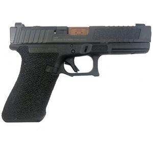 "Shadow Systems SG9F 9mm Luger Semi-Auto Handgun 4.5"" Bronze Barrel No Magazine Stippled Frame Optics Ready with LFT Hybrid Grip Slide Black"