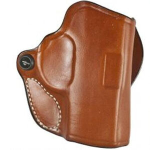 DeSantis Mini Scabbard Fits SIG Sauer P320C Belt Slide Holster Right Hand Leather Tan