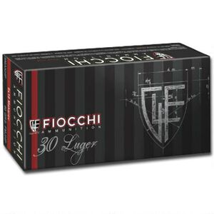 Fiocchi Classic .30 Luger Ammunition 50 Rounds 93 Grain Full Metal Jacket 1200 fps