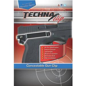 Techna Clip by Amend2 Retention Belt Clip Beretta Nano Right Hand Steel Black NABR
