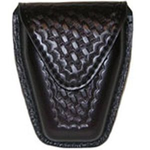 Safariland Model 190 Handcuff Pouch Hinged Cuffs Top Flap Hidden Snap SafariLaminate Basket Black 190H-4HS