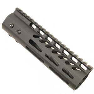 "Guntec AR-15 7"" Ultra Lightweight Thin M-LOK Free Floating Handguard with Monolithic Top Rail 6.5 oz Aluminum Black"