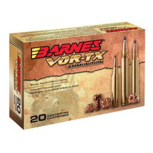 Barnes VOR-TX 5.56 NATO Ammunition 20 Rounds 70 Grain TSX BTHP Lead Free 2850 fps