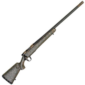 "Christensen Arms Ridgeline .450 Bushmaster Bolt Action Rifle 20"" Threaded Barrel 3 Rounds Carbon Fiber Stock Green with Black/Tan Webbing"