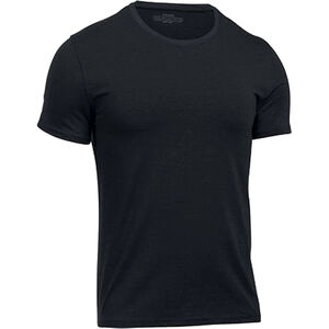 Under Armour Charged Cotton Crew Undershirt Men's Short Sleeve T-Shirt Charged Cotton Modal and Elastane Fabric Moisture Wicking Gray/Black 2-Pack