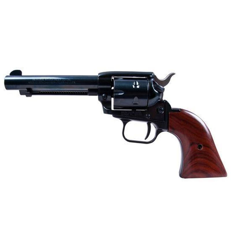 "Heritage Manufacturing Rough Rider SAA Single Action Revolver .22 LR/.22WMR Combo 4.75"" Barrel 6 Rounds Aluminum Alloy Frame Fixed Sights Blued Cocobolo Wood Grips Blued RR22MB4"