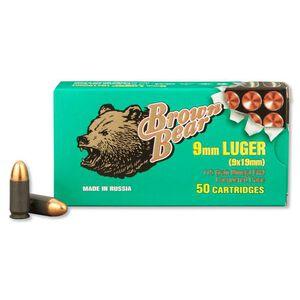 Brown Bear 9mm Luger 115gr FMJ Steel 1180 FPS 50 Rounds