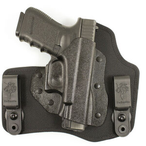 DeSantis Invader Tuckable IWB Holster For GLOCK 17/19/26 Right Hand Nylon/Kydex Black M65KAB2Z0