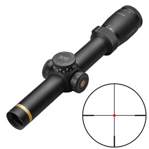 Leupold VX-5HD 1-5x24 Rifle Scope Illuminated FireDot Fine #4 Reticle 30mm Tube .25 MOA Adjustment Second Focal Plane Matte Black Finish