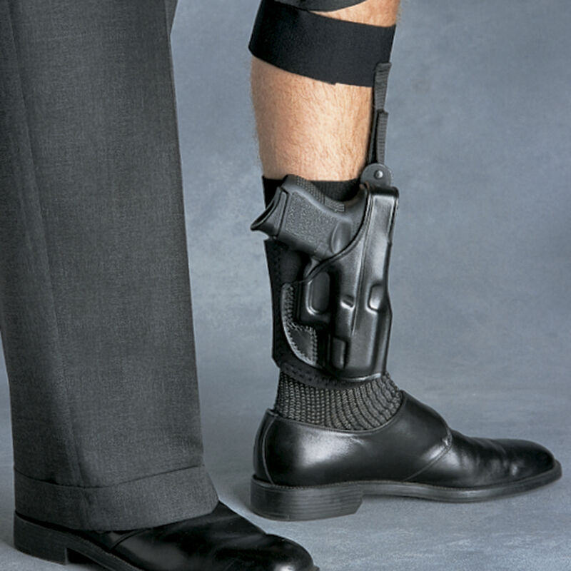 Galco Ankle Glove S&W M&P Shield, Honor Defense Honor Guard Ankle Holster Right Hand Black