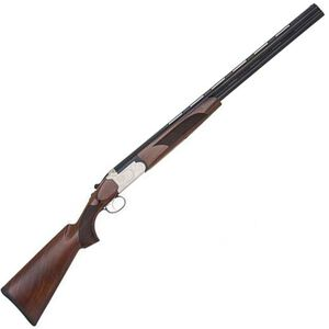"""Mossberg Silver Reserve II Field Bantam Over/Under Shotgun 20 Gauge 26"""" Vent Rib Barrel 3"""" Chamber 2 Rounds Walnut Stock Silver Receiver with Scroll Engravings 75457"""