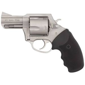 "Charter Arms Mag Pug .41 Mag DA/SA Revolver 2.5"" Barrel 5 Rounds Rubber Grip Matte Stainless"