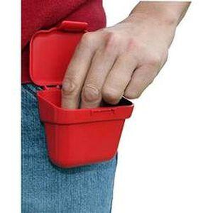MTM Case-Gard 100 Round Flip Belt Cartridge Box Polymer Red APB