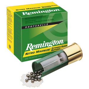 "Remington Nitro Magnum Buffered 20 Gauge Ammunition 25 Rounds 2-3/4"" Length 1-1/8 Ounce #4 Lead Shot 1175fps"