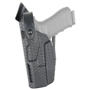 Safariland Model 7360 7TS ALS/SLS Mid-Ride Duty Belt Holster Left Hand Fits GLOCK 19/19X/23/45 with Light SafariSeven STX Plain Black