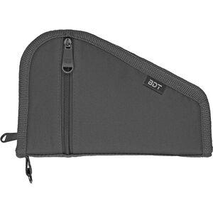 "Bulldog Deluxe Pistol Case With Pocket and Sleeve 9""x6"" Nylon Black"