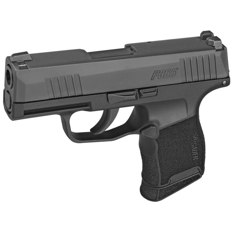 """SIG Sauer P365 Micro-Compact 9mm Luger Semi Auto Pistol 3.1"""" Barrel 10 Rounds X-Ray3 Sights Polymer Frame Matte Black Finish"""