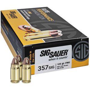 SIG Sauer Elite Ammunition .357 SIG 125 Grain FMJ 50 Round Box