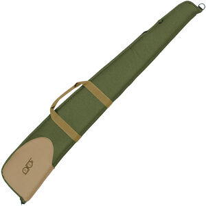 "Bob Allen Classic Series Shotgun Case 48"" 600-Denier Nylon Exterior Foam Padding Wrap Around Handles Nylon Zipper Olive/Khaki"
