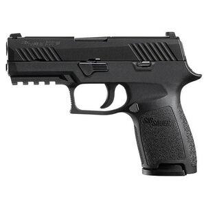 "SIG Sauer P320 Nitron Compact Semi Auto Pistol 9mm Luger 3.9"" Barrel 10 Rounds SIGLITE Sights SIG Rail Modular Compliant Trigger Polymer Frame/Grip Matte Black Finish"