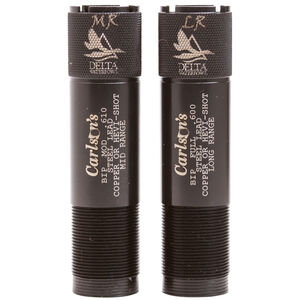 Carlson's Browning Invector Plus 20 Gauge Delta Waterfowl Extended Choke Tubes MR and LR Choke Stainless Steel Black Finish 2 Pack