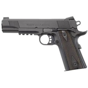 "Colt Government Rail Gun Semi Auto Handgun .45 ACP 5"" Barrel 8 Rounds Black Slide OD Green Frame"