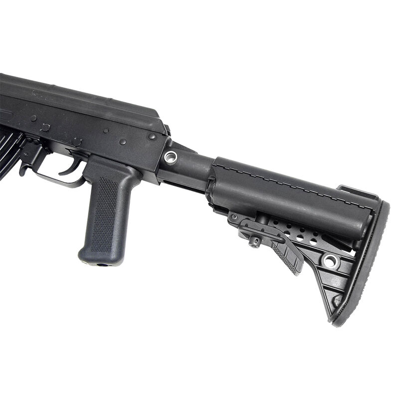VLTOR AK-47 5 Position Stock Black Receiver Extention for Stamped AKs with Storage Compartment Black