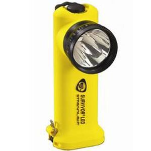 Streamlight Survivor LED Flashlight 65 Lumen 3 Function Rechargeable AC/DC Battery Click Switch Thermoplastic Body Yellow 90513