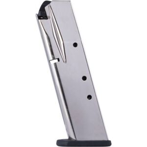 Mec-Gar Browning BDA .380 ACP 10 Rounds Magazine Steel Tube Polymer Base Plate Nickel Finish