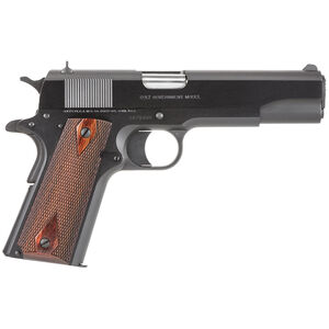 "Colt 1991 Government Semi Auto Handgun .45 ACP 5"" Barrel 8 Rounds Wood Checkered Grips Blued Finish 1991"