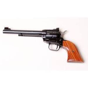 "Heritage Rough Rider Single Action Revolver .22 Caliber 6.5"" Barrel 6 Rounds Adjustable Sights Cocobolo Grips Blue Finish"