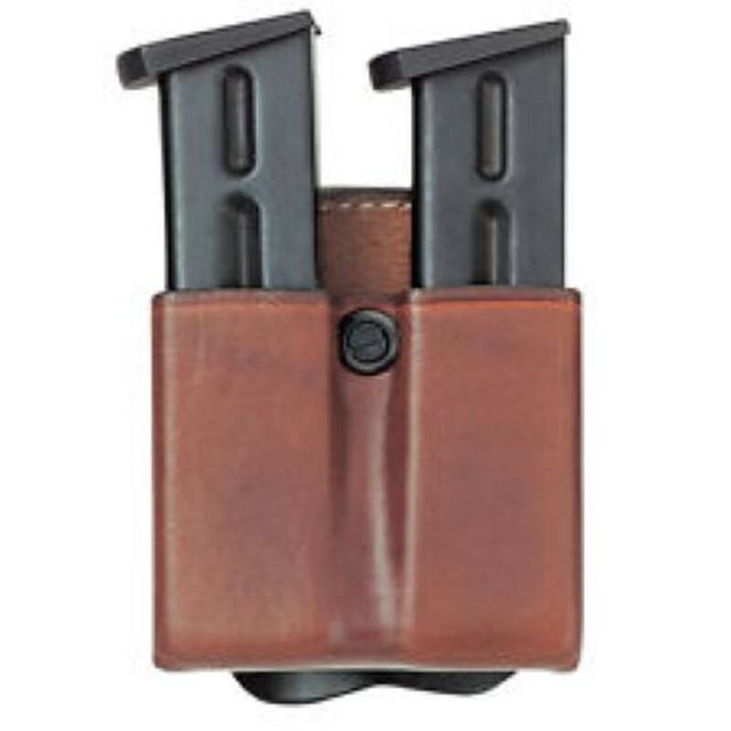 Aker Leather Double Magazine Carry Pouch Leather .45 Caliber Tan