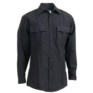 "Elbeco Textrop2 Men's Long Sleeve Shirt Neck 18.5 Sleeve 33"" 100% Polyester Tropical Weave Midnight Navy"