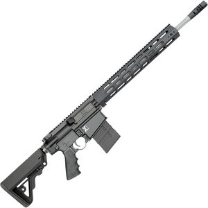 """Rock River Arms X-Series X-1 .308 Win AR-308 Semi Auto Rifle 18"""" Fluted Stainless Barrel 20 Rounds Free Float Handguard Collapsible Stock Black"""