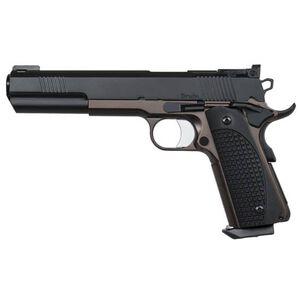 "Dan Wesson 1911 Bruin Semi Auto Pistol 10mm Auto 6.3"" Barrel 8 Rounds Fiber Optic Front Sight G-10 Grips Stainless Steel Frame Black/Bronze Duty Finish"