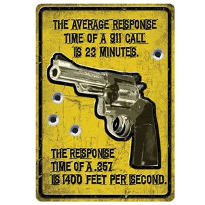 """River's Edge Products """"Average Response Time"""" Sign Tin 12 by 17 Inches 1561"""