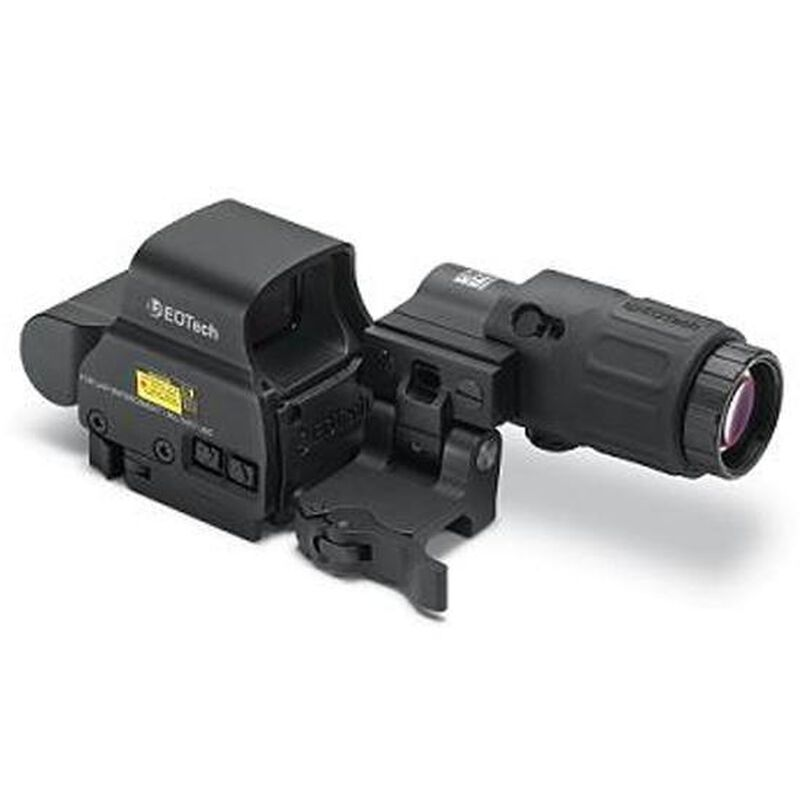 EOTech HHS II Holographic Weapon Sight and Magnifier Combo CR123 Battery Picatinny Quick Disconnect Mount Black HHS-II