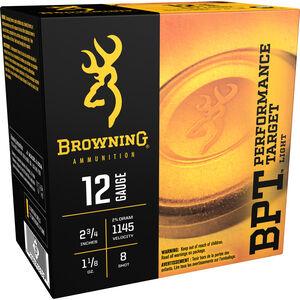 "Browning BPT Light 12 Gauge Ammunition 250 Rounds 2.75"" #8 Lead 1.125 Ounce B193611228"