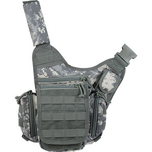 """Voodoo Tactical Ergo Pack 13""""x5.5""""x13.5"""" Sling Bag with Concealed Handgun Pocket Durable Synthetic Fabric Army Digital Camo"""